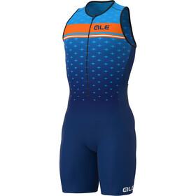 Alé Cycling Stars SL Triathlon Skinsuit Long Men, niebieski/pomarańczowy
